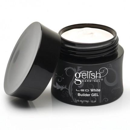 Hard-Gel White Builder Gel 15ml - GELISH - bílý stavební gel na nehty