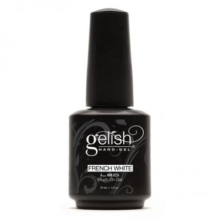 Hard-Gel French White Brush-On Gel 15ml - GELISH - bílý gel se štětcem, na Francouzskou manikúru