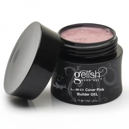 Hard-Gel Cover Pink Builder Gel 15ml - GELISH - poloprůhledný růžový stavební gel na nehty