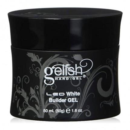 Hard-Gel White Builder Gel 50ml - GELISH - bílý stavební gel na nehty