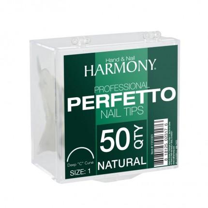 Perfetto Natural  1 - 50ks - GELISH - přirozeně působící tipy na nehty velikosti 1