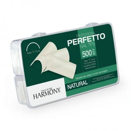 Perfetto Natural Tips 500ks - GELISH - přirozeně působící tipy na nehty velikosti 1-10