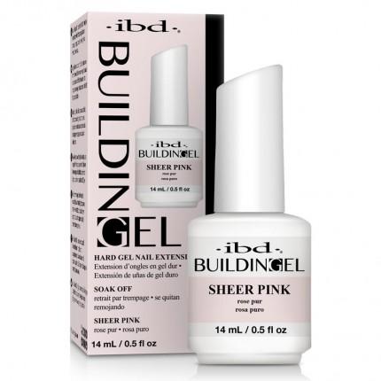 Building Gel Sheer Pink 14ml - IBD - stavební odlakovatelný růžový gel