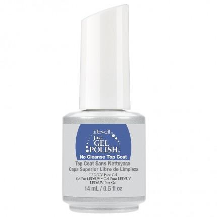 No Cleanse Top Coat 14ml - IBD JustGel - vrchní bezvypotková vrstva gel laku