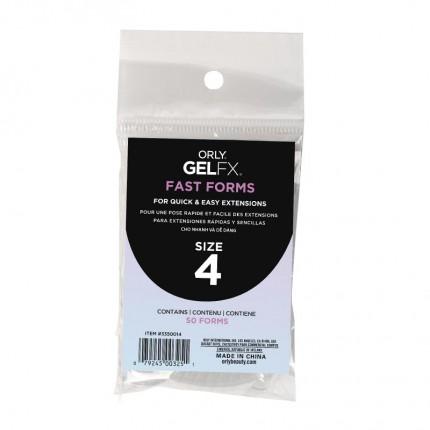 Fast Forms 50ks velikost 4 - ORLY GELFX - forma na vytvoření gelových nehtů
