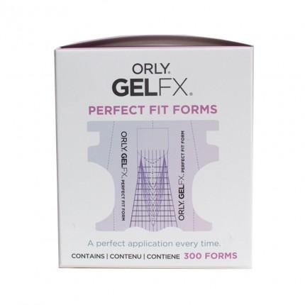 Perfect Fit Nail Form 300ks - ORLY GELFX - šablona na gelové nehty