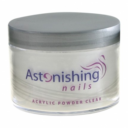 Acrylic Powder Clear 100g - ASTONISHING - akrylový pudr průhledný