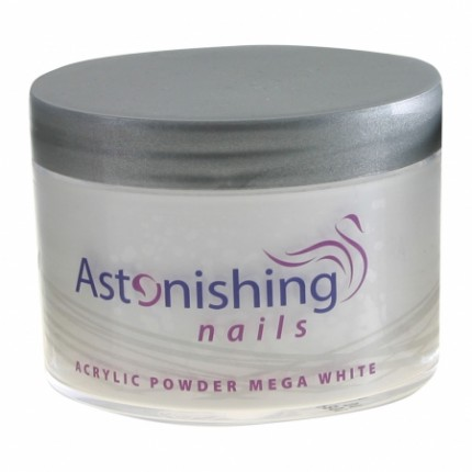 Acrylic Powder Mega White 100g - ASTONISHING - extra bílý akrylový pudr
