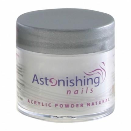 Acrylic Powder Natural 25g - ASTONISHING - akrylový pudr s přirozeným vzhledem