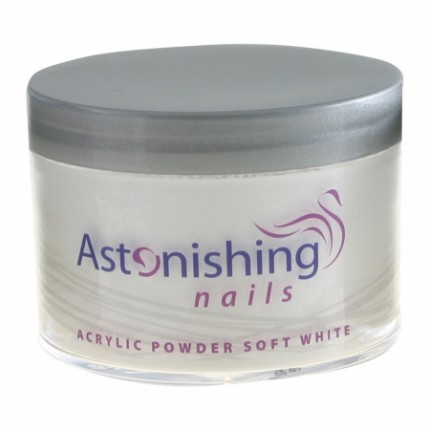 Acrylic Powder Soft White 100g - ASTONISHING - jemně bílý akrylový pudr