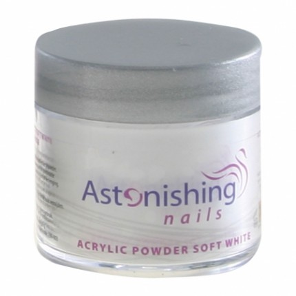 Acrylic Powder Soft White 25g - ASTONISHING - jemně bílý akrylový pudr
