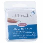 Clear tipy 10 - 50ks - IBD - průhledný typ na nehty velikosti 10