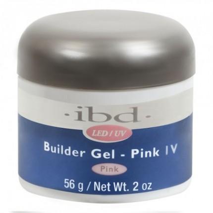 Pink IV 56g - LED/UV Builder Gel - IBD růžový stavební gel na nehty