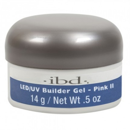 Pink II 14g - LED/UV Builder Gel - IBD růžový stavební gel na nehty