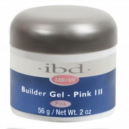 Pink III 56g - LED/UV Builder Gel - růžový stavební gel na nehty