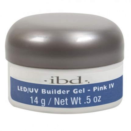 Pink IV 14g - LED/UV Builder Gel - IBD růžový stavební gel na nehty