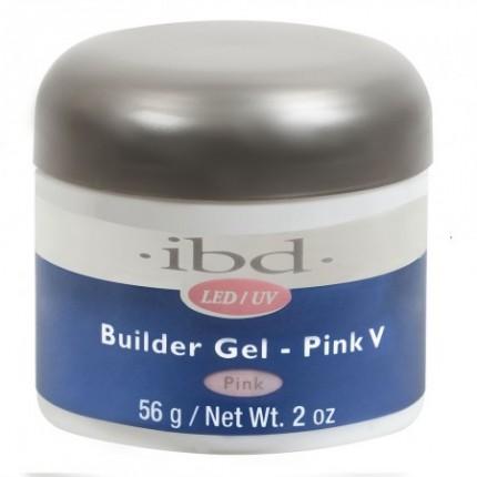 Pink V 56g - LED/UV Builder Gel Pink - růžový stavební gel na nehty