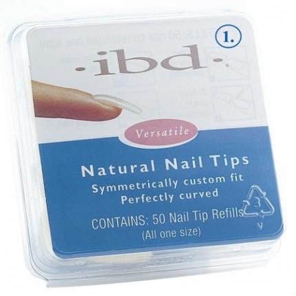 Natural tipy 1 - 50ks - IBD - přirozene vypadajíci tipy na nehty velikosti 1