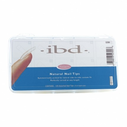 Natural tipy sada 100ks - IBD - přirozene vypadajíci tipy na nehty sada