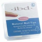 Natural tipy 2 - 50ks - IBD - přirozene vypadající tipy na nehty velikosti 2