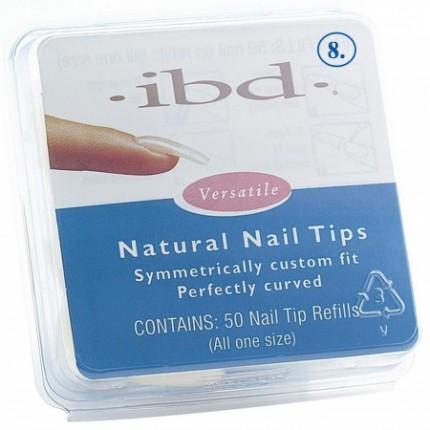 Natural tipy 8 - 50ks - IBD - přirozene vypadajíci tipy na nehty velikosti 8